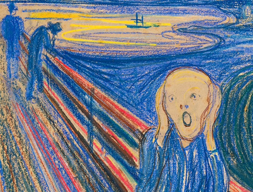 "Edvard Munch ,""The Scream"" (detail)"